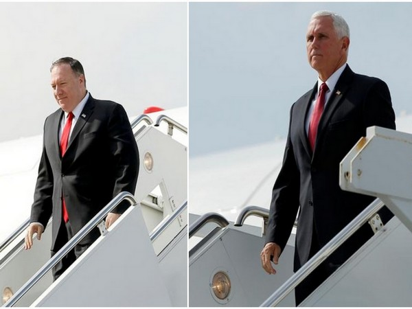 US Secretary of State Mike Pompeo and Vice President Michael Pence in Turkey on Thursday (Reuters)