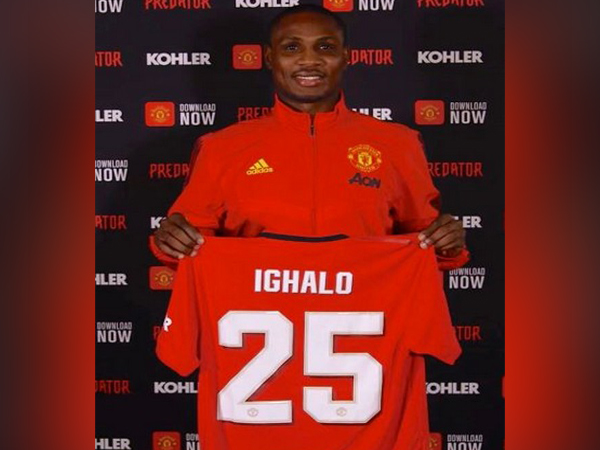 Manchester United's new member Odion Ighalo (Photo/ Manchester United Twitter)