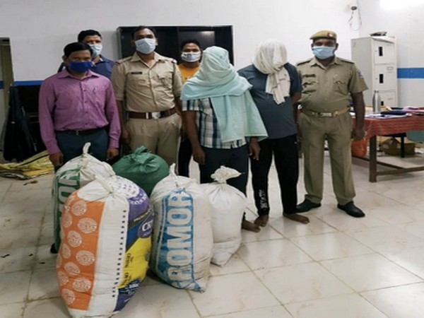 Two persons were arrested after 120 kilograms of ganja (cannabis) worth Rs 10 lakhs was recovered from their possession in Dharmagarh area in Kalahandi district.