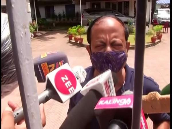 BJD leader and former tourism minister Debi Prasad Mishra speaking to reporters on Friday. Photo/ANI