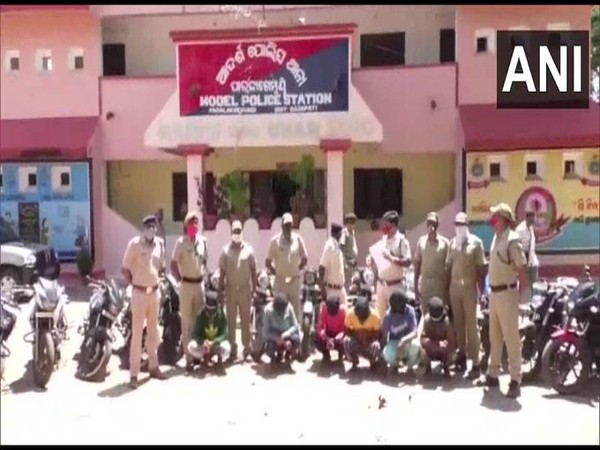 Bike lifting racket busted, six including home guard arrested in Odisha on Tuesday. Photo/ANI