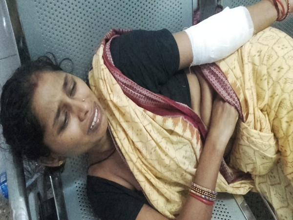 The realtive of the family who was attacked by a group of women on Friday. Photo/ANI
