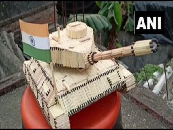 Indian army tank model (Photo/ANI)