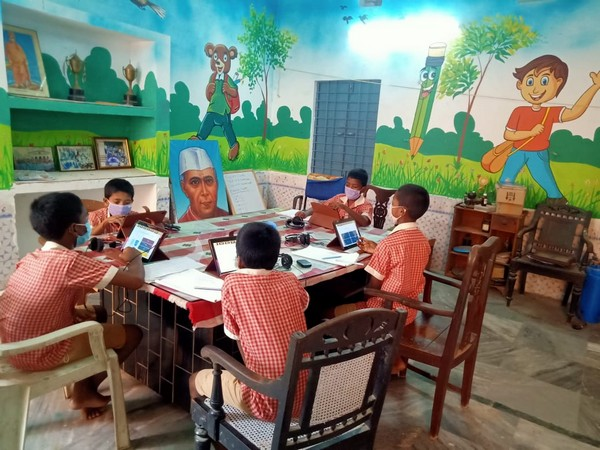 Visual of a temporary home for children in Odisha (Photo/ANI)