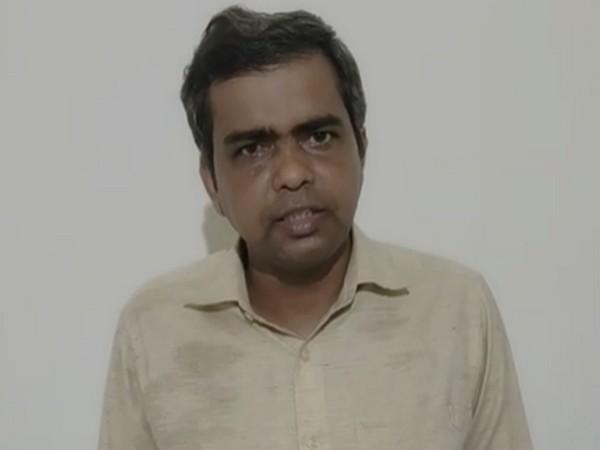 Supreme Court advocate Radhakanta Tripathy speaking in a self-made video. Photo/ANI