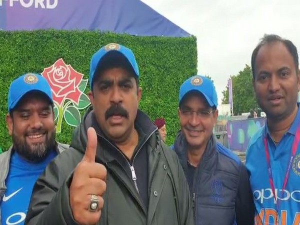 Goa leaders of different political parties outside Old Trafford cricket stadium in Manchester on Sunday.