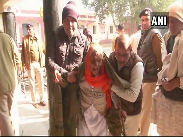 The maximum number of 553 voters who are of 100 years of age or above, are in Karnal, while the lowest number of 111 voters are in Panchkula. Photo/ANI
