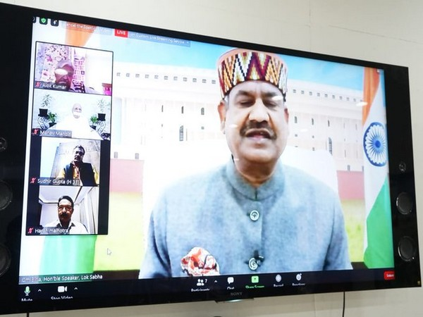 Lok Sabha Speaker Om Birla during an online seminar on the occasion of National Organ Donation Day (Picture credits: Om Birla official twitter)
