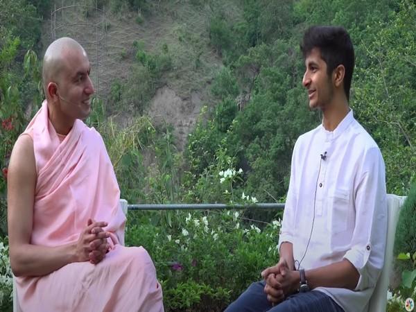 Om Swami, Founder of Black Lotus, Meditation Expert and Author with Chess Grandmaster Vidit Gujrathi