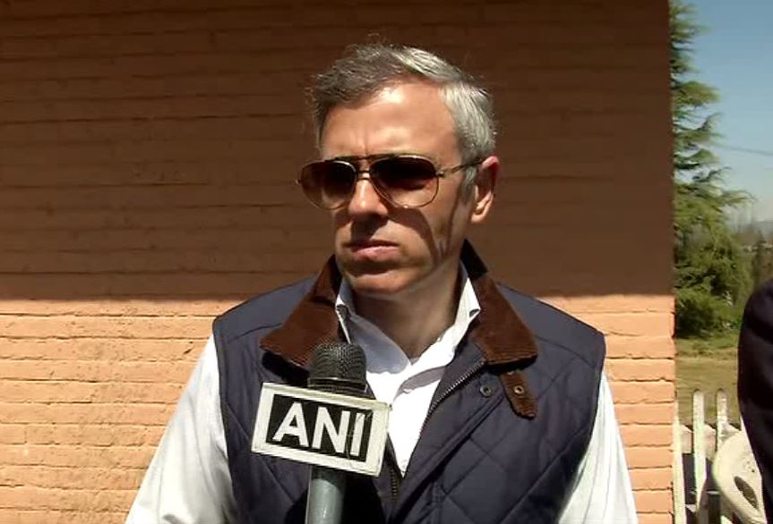 Former Jammu and Kashmir Chief Minister Omar Abdullah speaking to ANI in Baramulla on Tuesday.