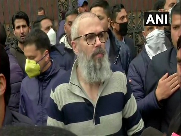 Former Jammu and Kashmir Chief Minister Omar Abdullah speaking to media after being released from detention. Photo/ANI