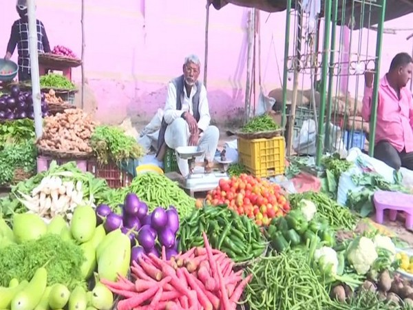 Vegetable market in Varanasi.