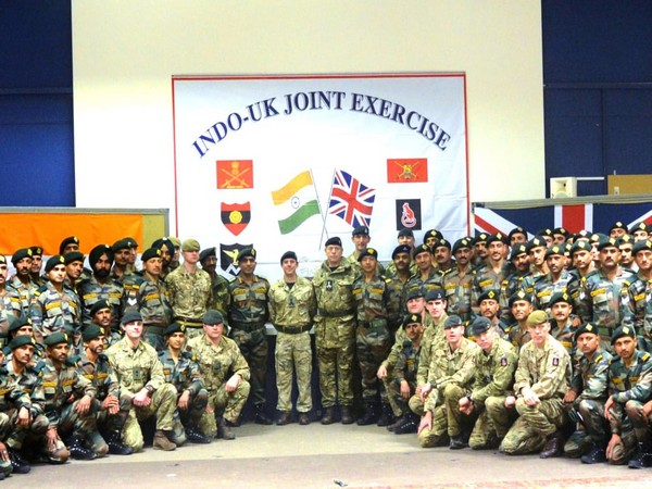 India and UK Armies contingents taking part in joint exercise. (Picture courtesy: PIB)