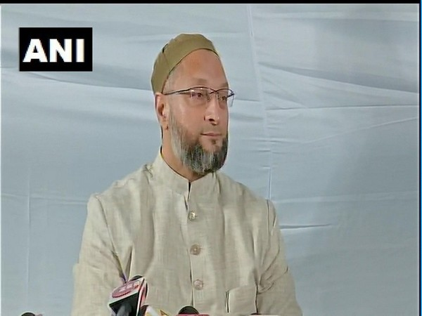 AIMIM Chief Asaduddin Owaisi speaking to media persons on Thursday.
