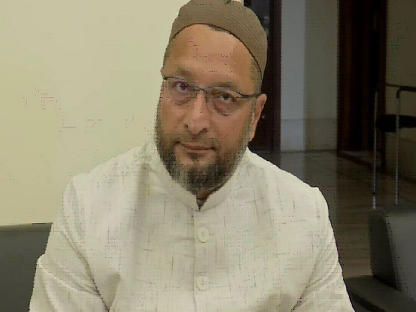 AIMIM leader Asaduddin Owaisi addressing a press conference in Hyderabad on Wednesday. Photo/ANI
