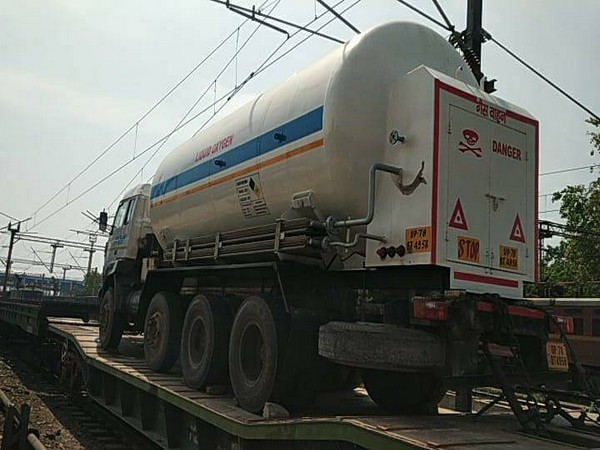 Oxygen Express, which ran from Lucknow to Bokaro Steel Plant for oxygen supply in Uttar Pradesh. (Photo/Twitter)