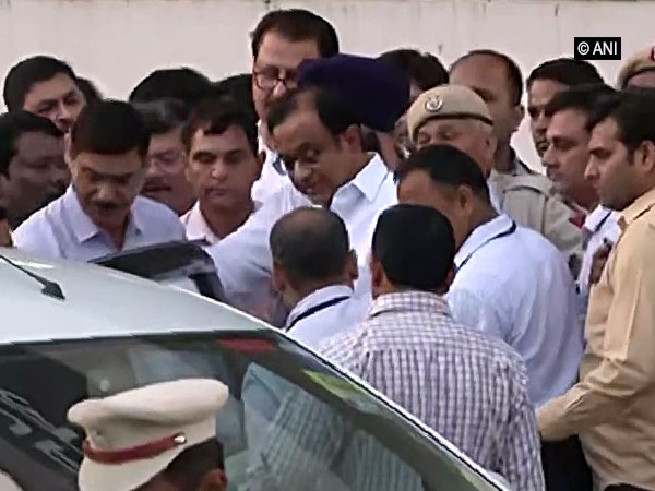 P Chidambaram being taken into CBI custody. Photo/ANIANI