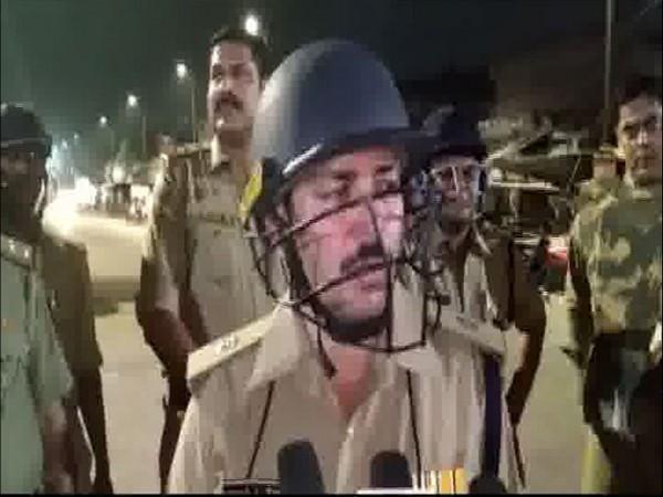 Vikas Chandra Tripathi, Superintendent of Police, Lucknow speaks to ANI on Thursday. [Photo/ANI]