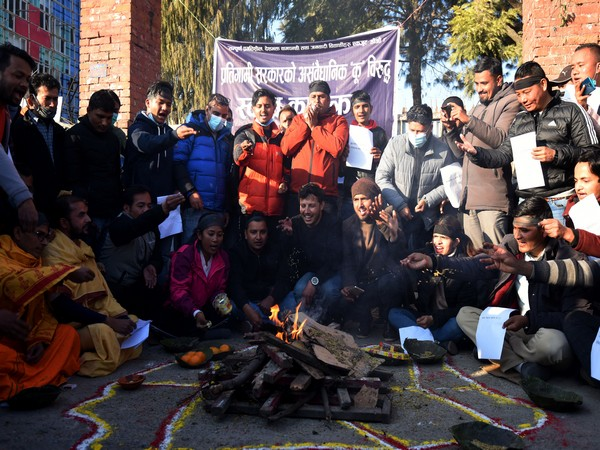 Students in Nepal perform Vedic practises against  goverrnment against unconstitutional move