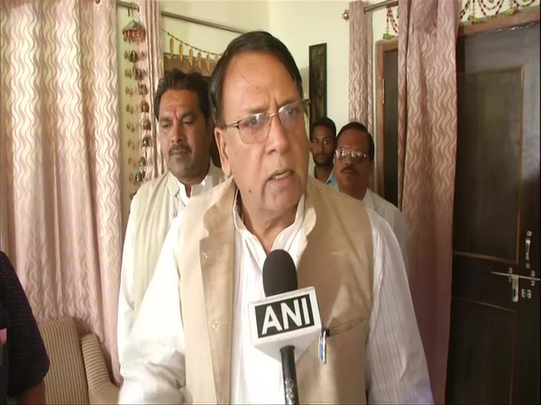 Madhya Pradesh Minister PC Sharma speaking to ANI in Bhopal on Sunday. Photo/ANI