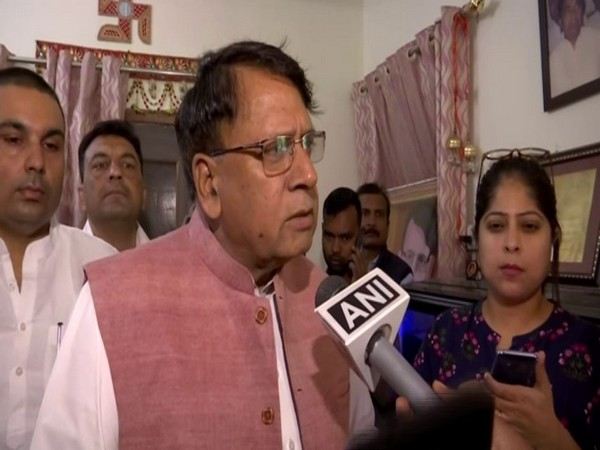 Madhya Pradesh Law Minister PC Sharma speaking to ANI in Bhopal on Tuesday. Photo/ANI