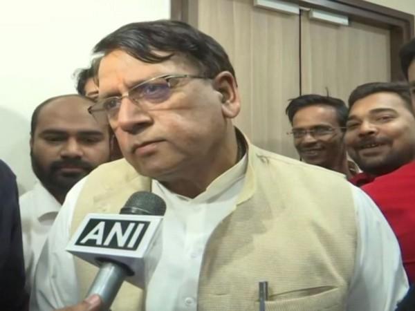 Madhya Pradesh Cabinet Minister PC Sharma speaking to ANI in Bhopal on Sunday. Photo/ANI