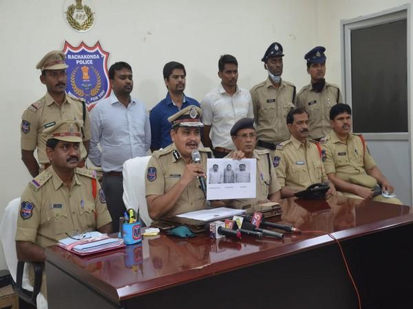 Telangana Police addressing a press conference on Sunday. (Photo/ANI)