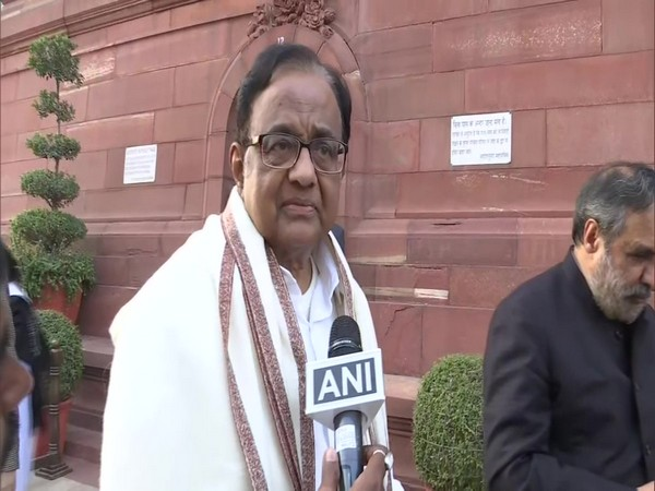 Congress leader P Chidambaram speaking to ANI in New Delhi on Tuesday. Photo/ANI