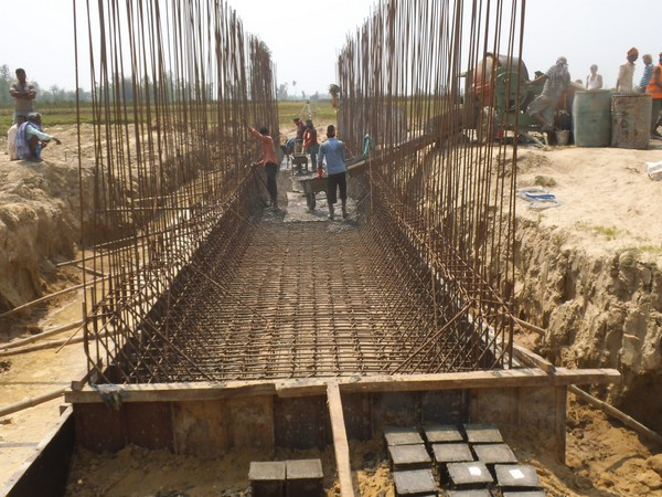 The ongoing construction of Janakpur-Jaynagar railway project. Photo/ANI