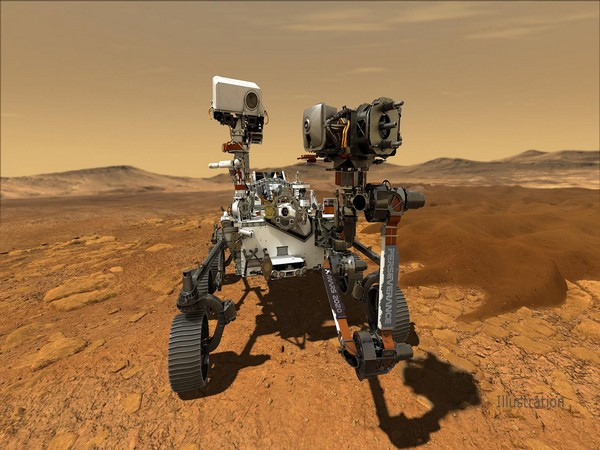 Illustration depicting NASA's Perseverance rover operating on the surface of Mars (Image Source: NASA/JPL-Caltech)