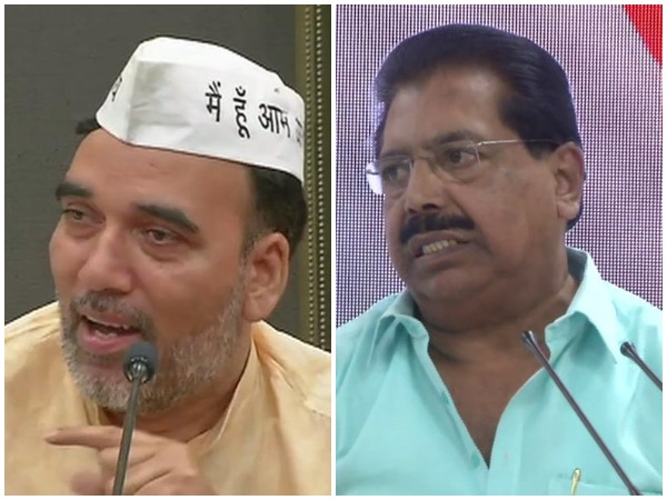 AAP's Gopal Rai (Left) and Congress leader PC Chacko (Right)