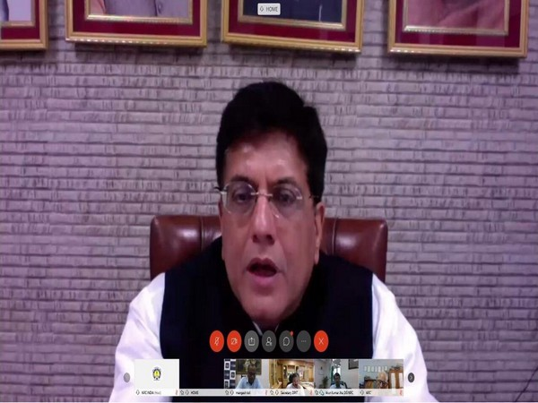 Commerce and Industry Minister Piyush Goyal during video-conferencing meeting