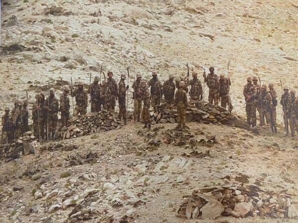 Chinese soldiers armed with stick machetes during their deployment along the Line of Actual Control (LAC) in Eastern Ladakh sector