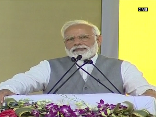 Prime Minister Narendra Modi addressing a public rally after inaugurating Hindon Airbase in Ghaziabad on Friday.