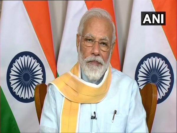 Prime Minister Narendra Modi speaking at the 25th foundation day of Rajiv Gandhi University of Health Sciences, Karnataka via video conference on Monday. [Photo/ANI]