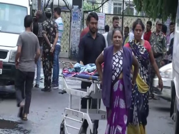 Patients are being referred to other hospitals from PMCH for treatment due to manpower shortage. Photo/ANI
