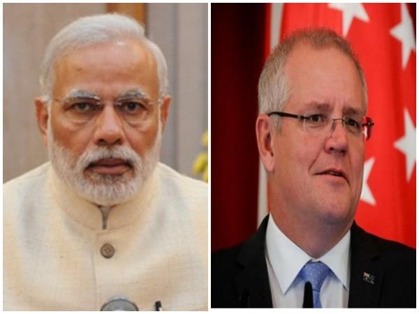 Prime Minister Narendra Modi and Australian PM Scott Morrison