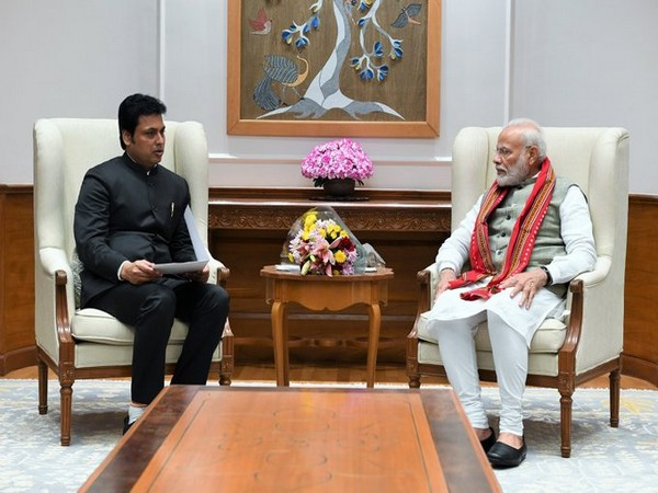 Tripura Chief Minister Biplab Kumar Deb called on Prime Minister Narendra Modi in Delhi
