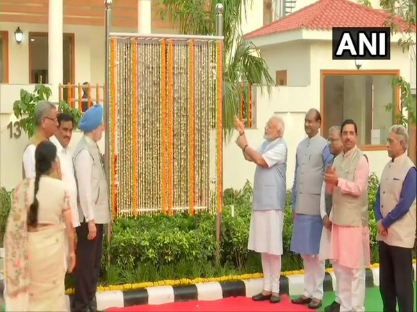 Prime Minister Narendra Modi inaugurates newly constructed 36 duplex flats for Members of Parliament at North Avenue, New Delhi