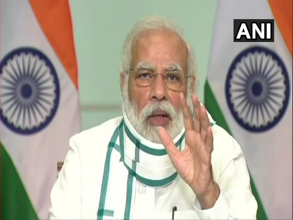 Prime Minister Narendra Modi during a virtual meeting on Wednesday. (Photo/ANI)