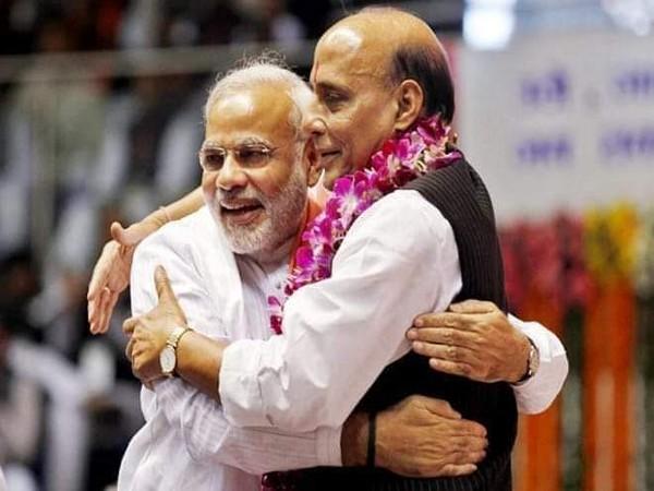 Prime Minister Narendra Modi with Union Minister Rajnath Singh (file photo)