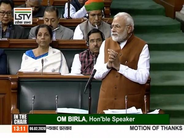 Prime Minister Narendra Modi speaking in Lok Sabha on Thursday.
