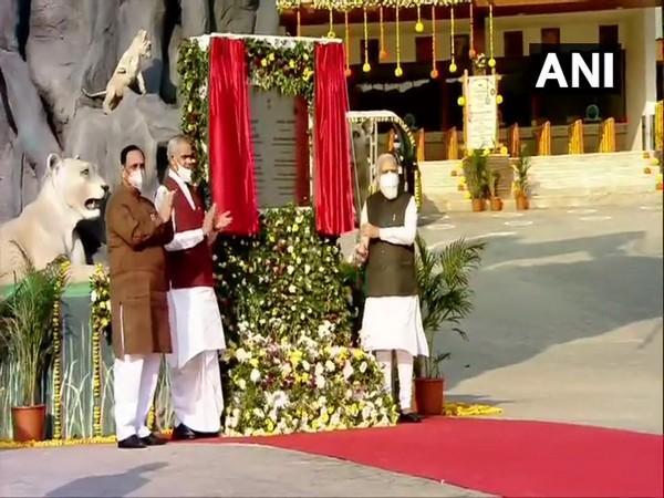Prime Minister Narendra Modi inaugurates Sardar Patel Zoological Park in Gujarat on Friday. Photo/ANI