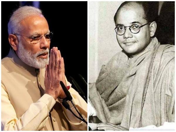 Prime Minister Narendra Modi (Left) and Freedom fighter Netaji Subhash Chandra Bose (Right). (File photo)