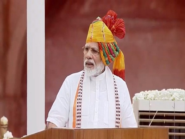 Prime Minister Narendra Modi addressing the nation from Red Fort on 73rd Independence Day. (Photo/ANI)