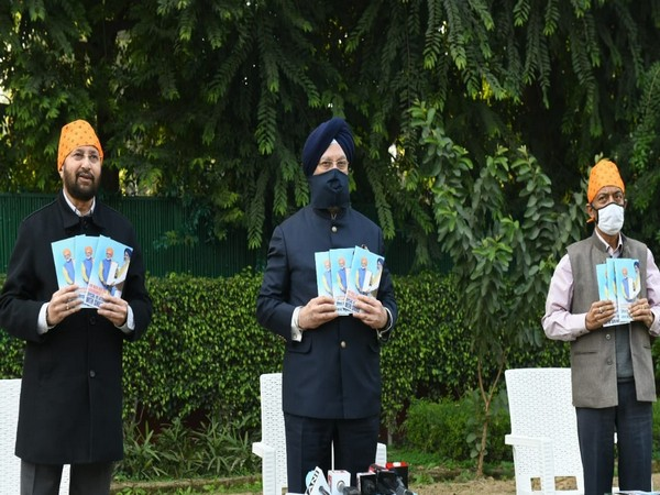 Prakash Javadekar, Hardeep Singh Puri, Amit Khare release a booklet titled 'PM Modi and his Government's special relationship with Sikhs' (Photo ANI/Twitter)