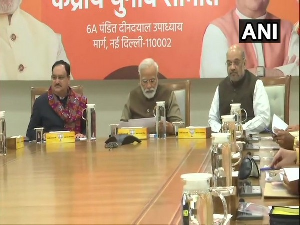 Prime Minister Narendra Modi during the CEC meeting held in New Delhi on Thursday. (Photo/ANI)