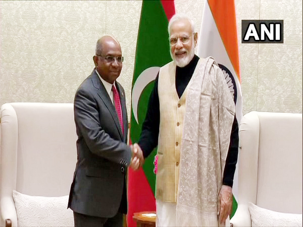 Prime Minister Narendra Modi met Foreign Minister of Maldives Abdulla Shahid in New Delhi on Friday.