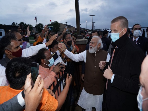 Prime Minister Narendra Modi interacting with Indian diaspora in US.