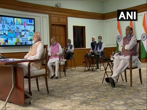 Prime Minister Narendra Modi chairing meeting of Council of Ministers via video-conferencing on Monday.